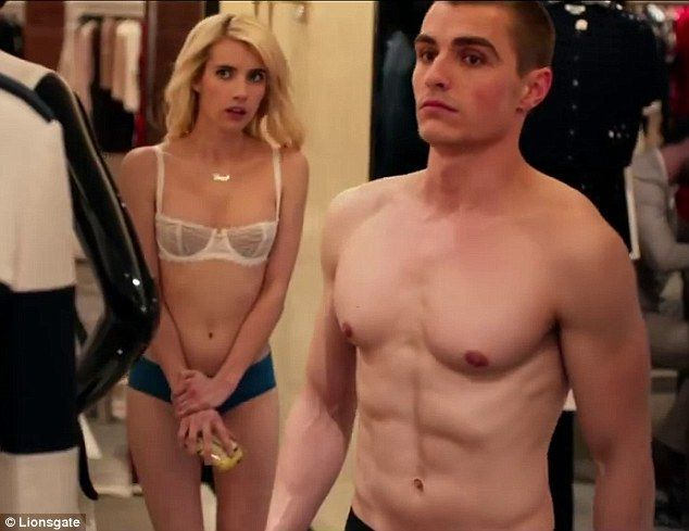 No clothes needed? Emma Roberts and Dave Franco showed off their fit bodies as in a teaser clip from their new movie Nerve
