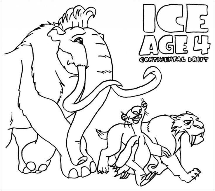 ausmalbilder ice age kostenlos zum ausdrucken  coloring
