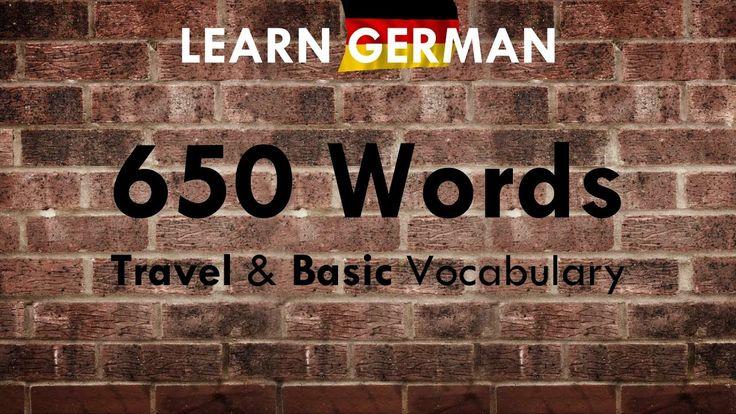 650 Important & Useful Words: Travel & Basic Vocab | German ⇔ English | ...
