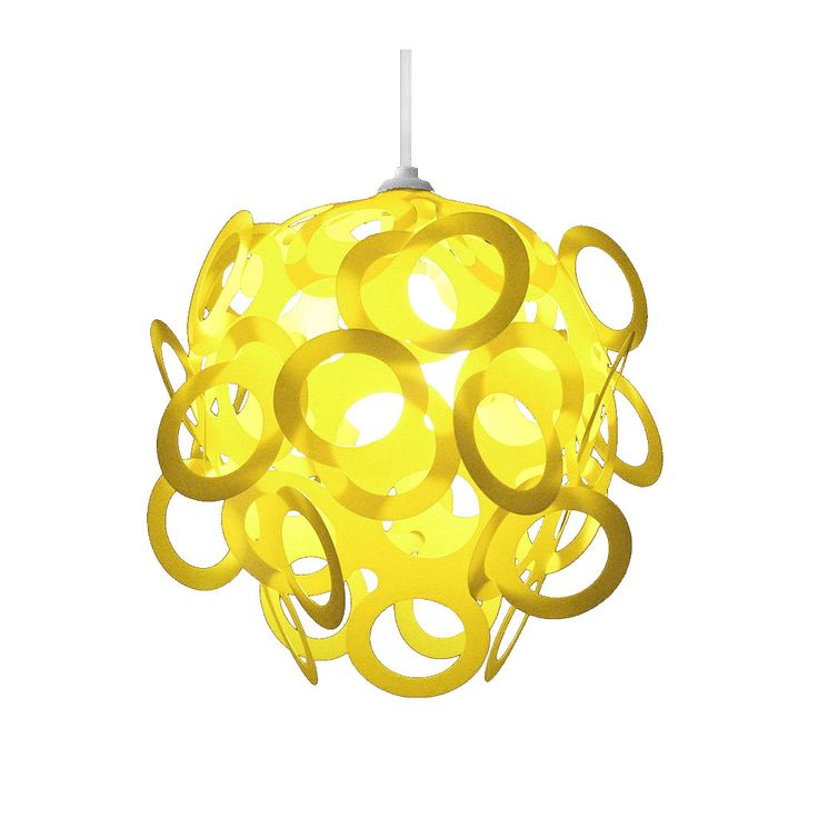 Loopy-Lu Yellow Lamp Shade designed by Lothair Hamman – Funky Lamp Shades