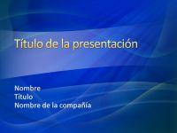 Diapositivas de presentación de muestra (diseño de silbido azul)