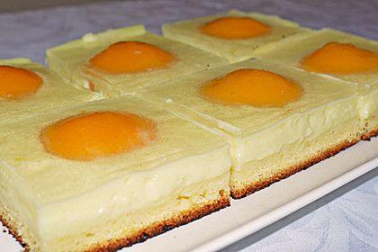 Chefkoch.de Rezept: Spiegeleikuchen vom Blech