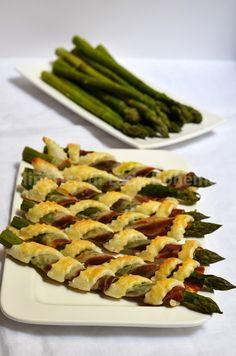 Cannoli di pasta sfoglia con asparagi e pancetta
