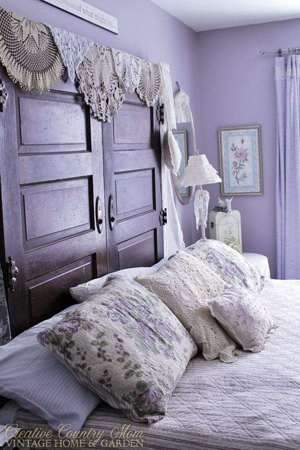 Creative Country Mom S Vintage Home And Garden Christmas In The Shabby Chic Purple Bedrooms Cottage Bedroom