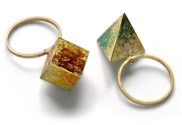 GRAZIANO VISINTIN-IT rings, 2011, gold, enamel