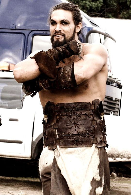 "gameofthronesdaily: ""Behind the Scenes of Game of Thrones: Jason Momoa as Khal Drogo, Season 1 """