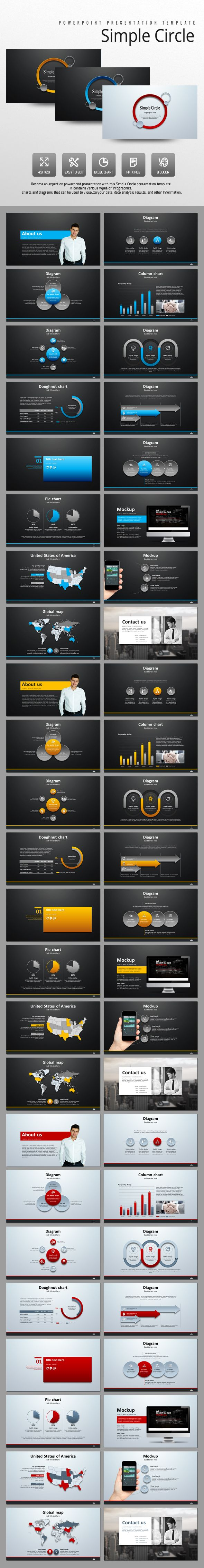 Simple Circle (PowerPoint Templates)