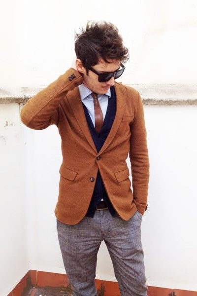 Retro.: Men'S Outfit, Color Combos, Jackets, Men'S Styles, Men'S Fashion, Blazers, Leather Ties, Man, Hairs Ties