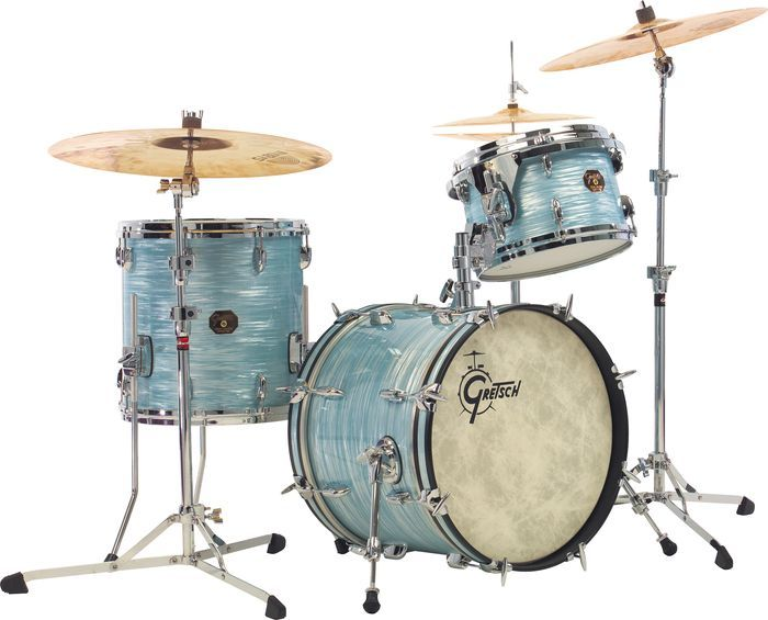 Gretsch Drums USA Custom QD 3-Piece Jazz Drum Shell Pack Sky Blue Pearl