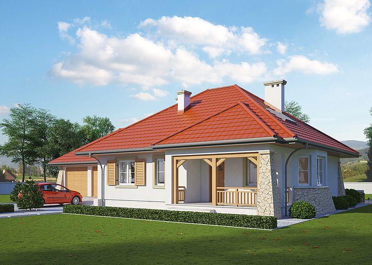 LK&447 parterowy dom jednorodzinny projekty pracowni LK&Projekt
