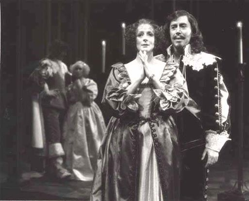 """Maggie Smith and Brian Bedford, """"Much Ado About Nothing"""", Stratford, Ontario, 1980."""