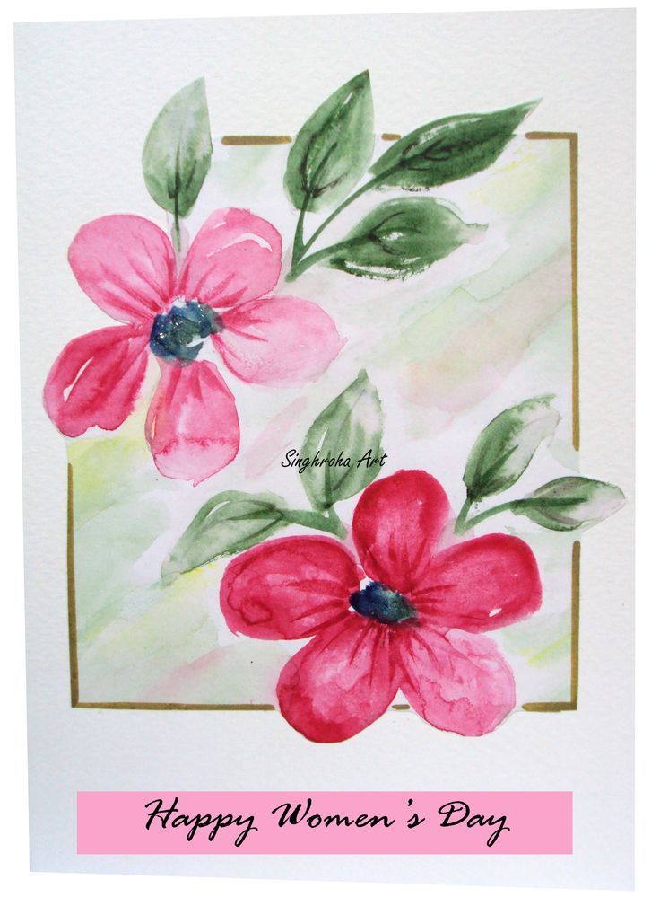 Floral Card #womensday