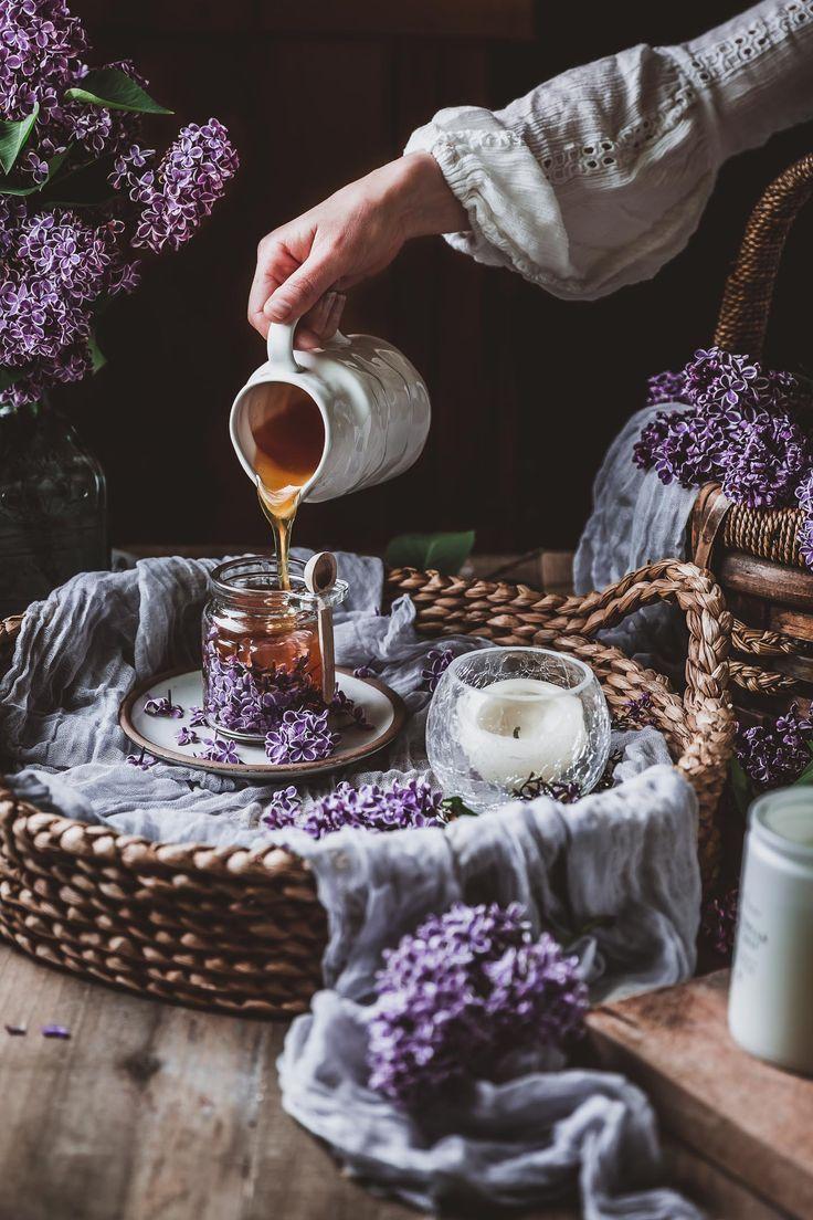 Lilac Honey Infusion Recipe Dark Food Photography Food Photography Food Drink