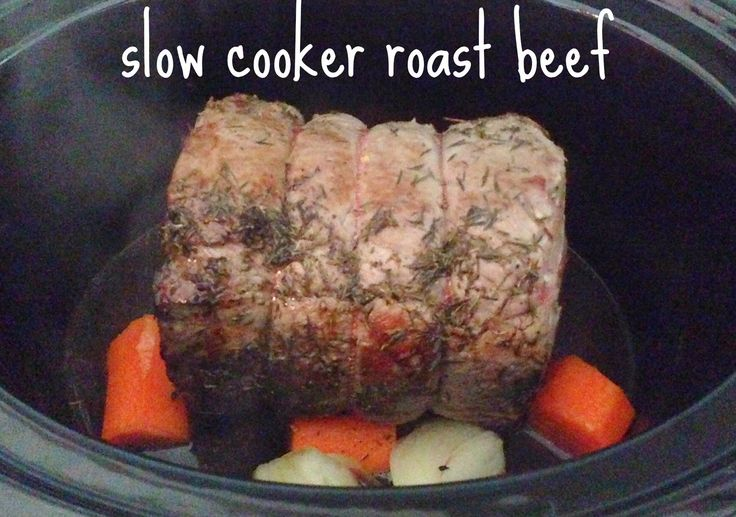 Share Tweet Pin Mail I wanted to try slow cooker roast beef after recently discovered the wonders of roasting a whole chicken in my ...