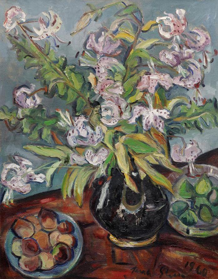 'Still life with tiger lilies', 1960 - Irma Stern