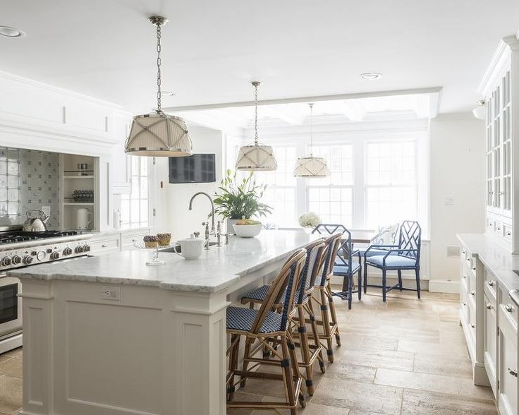 Nautical Kitchens With Islands, Nautical Marble