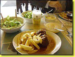 boulets à la liegeoise de la confrérie gastronomique du gay boulet de boncelles = The MOST famous recipe for meaballs  from Liege. They've won numerous awards.A better page to read the recipe is at http://www.gayboulet.be/crbst_27.html