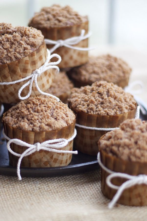 Carrot & Apple Cinnamon Streusel Muffins   a cup of mascarpone