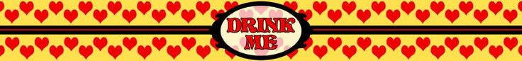 Drink Me Bottle label - Queen Style - Alice in Wonderland - Disney-inspired Party Printable ~~~~~~~~~ Size: (2550x300px). This label is designed to be printed at 8.5 x 1 inches. Simply print out and stick around your drink bottle for instant Wonderland fun! Clipart belongs to Disney. Font is Storybook www.dafont.com/storybook.font This label is **Personal use only - NOT for sale/resale/profit**