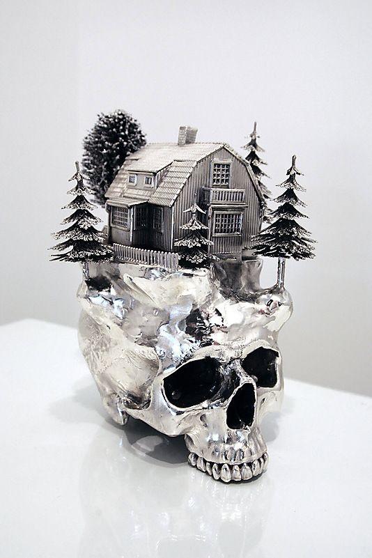 Silver Skull Sculptures by Frodo Mikkelsen (2)