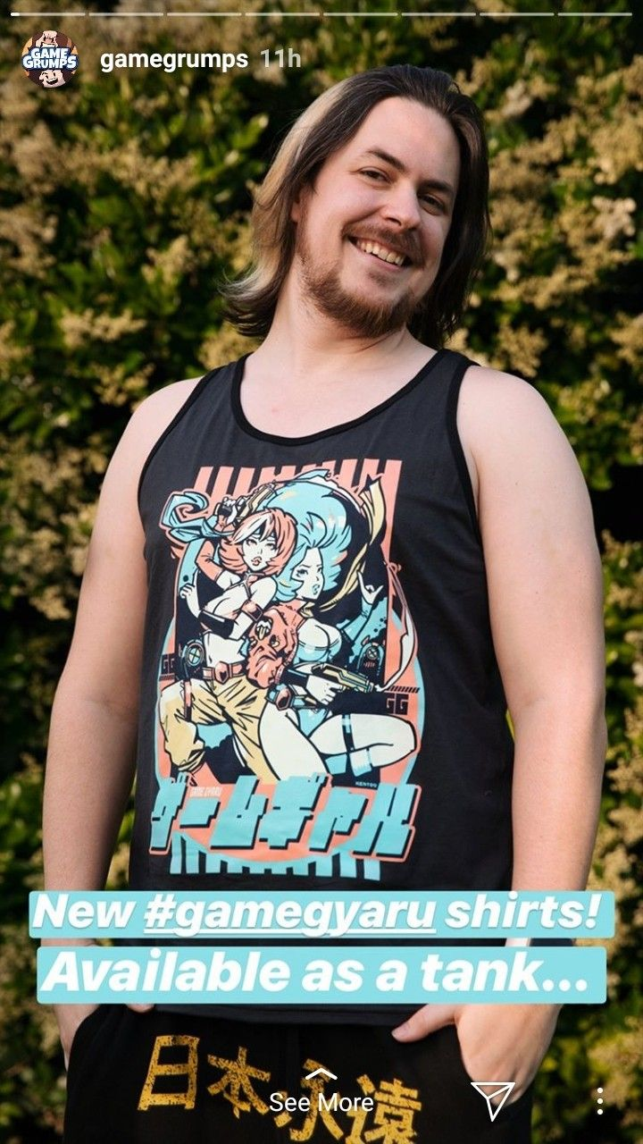Gamegrumps Be Oved Outubers Mens Tops Tank Man