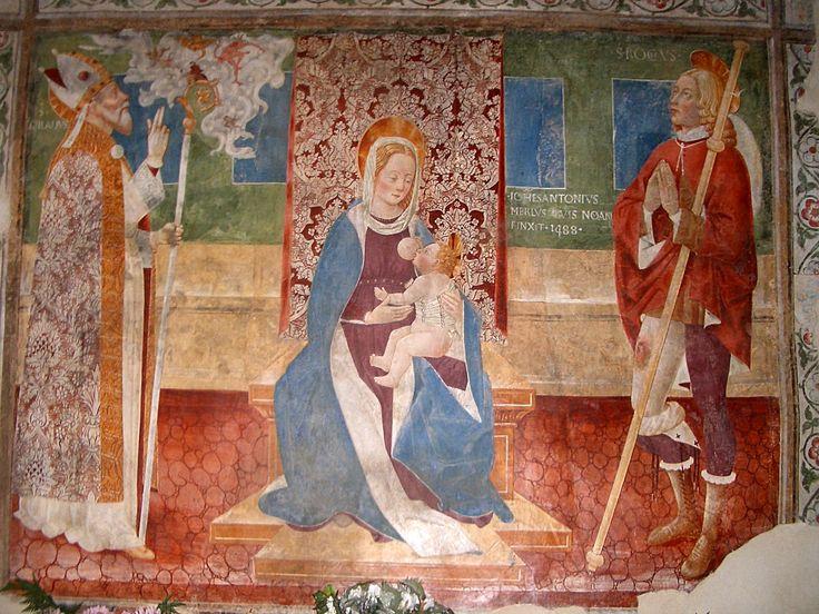 Paruzzaro, Chiesa San Marcello, G.A. Merli, Madonna del latte e santi