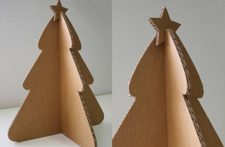 Árbol de Navidad de cartón: personalizable y ecológico