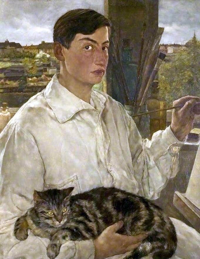 Lotte Laserstein, German-Swedish (1898-1993), Self Portrait with a ...