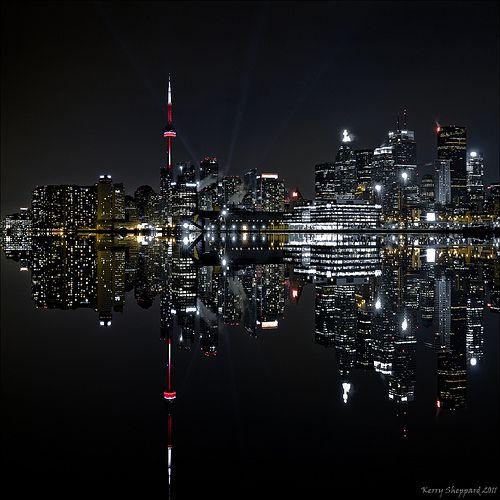Toronto Skyline Reflection in Lake Ontario