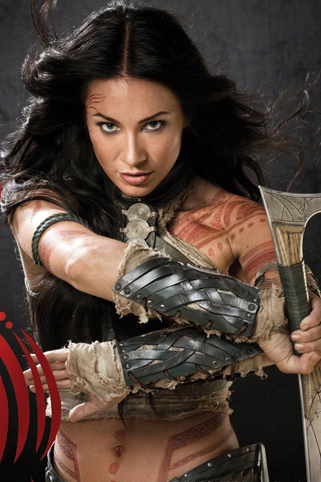 Lynn Collins  in John Carter.  Oddly enough... outside of this movie, I think she's odd looking.  Google Image Result for http://2.bp.blogspot.com/-yI3gwd61Mno/T1nB5FDT1JI/AAAAAAAAFVE/AlalzksLefU/s1600/Lynn-Collins-in-John-Carter-640x960.jpg