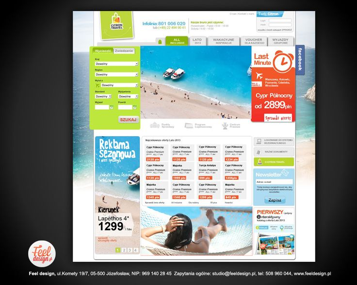 Official website of the travel agency Citron Travel, gaily colored and positive.  It was meant to be, but check it out alone