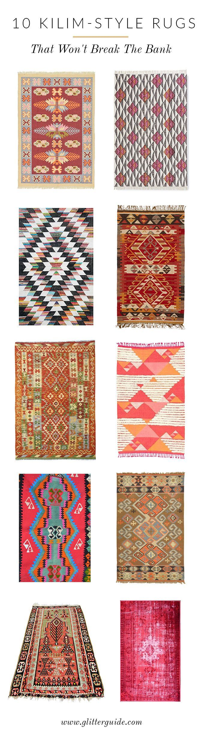 Loving kilim-style rugs today. Right here is the place to save lots of on this splurge-worthy…