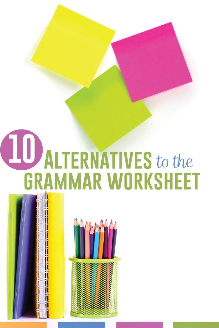 10 Alternatives To The Grammar Worksheet Language Arts Classroom In 2021 Grammar Worksheets Language Arts Classroom Art Classroom [ 1102 x 735 Pixel ]