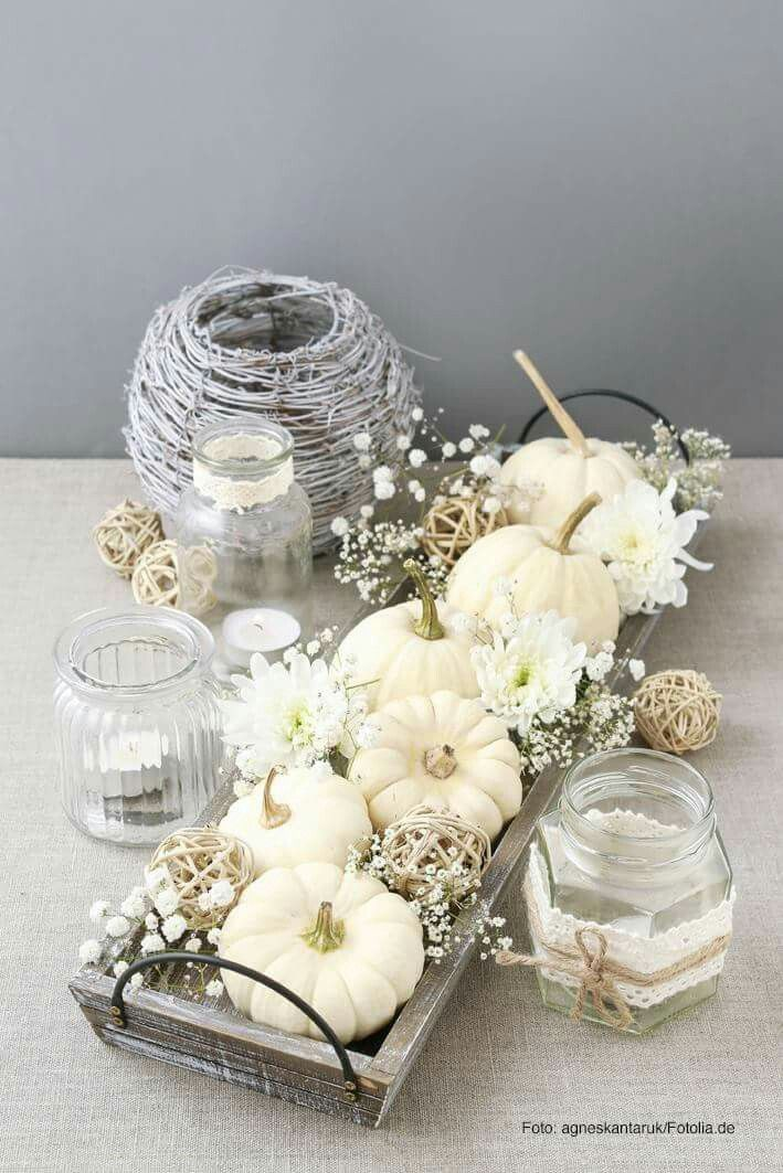 Fall decorating inspiration for a fall centerpiece