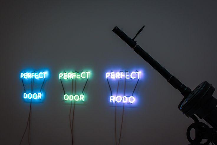 MoMa, modern Art, Neon Light. Perfect Door, 2014.