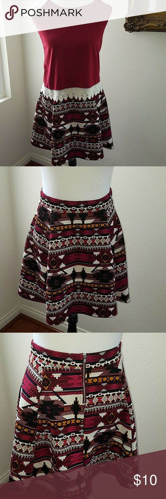 Multi Color Skirt Like new and made of soft quilt knit material. I will throw in the matching tank top for free. Skirts Mini