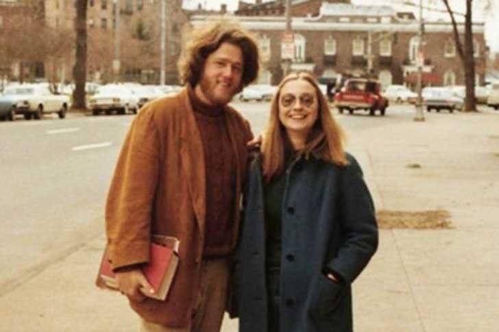 Bill y Hillary Clinton como enamorados en la Universidad de Yale, 1970