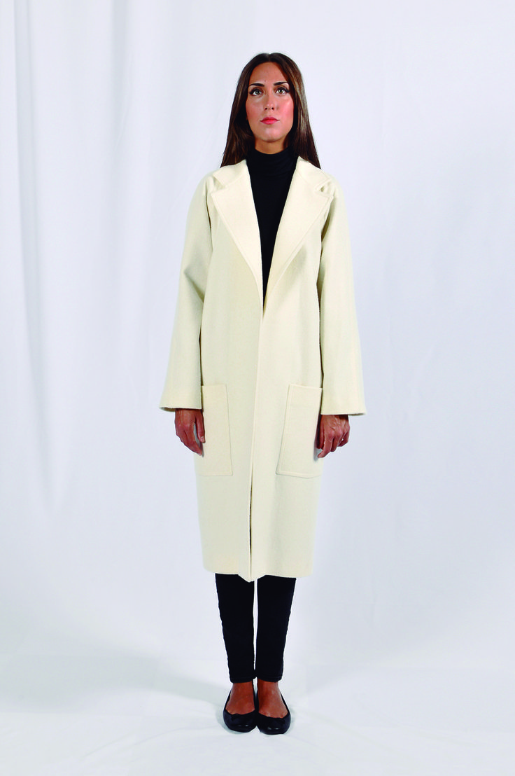 Abrigo largo de lana