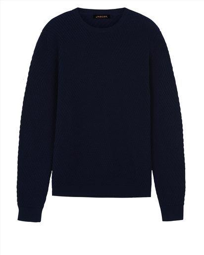 Cotton Herringbone Sweater