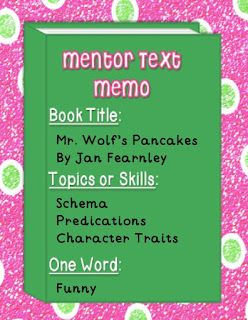 Must Read Mentor Texts--Mr. Wolf's Pancakes
