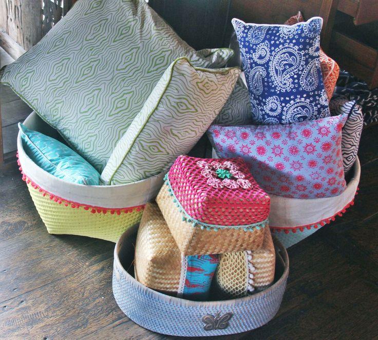 Batik Cushions by Tan Living.