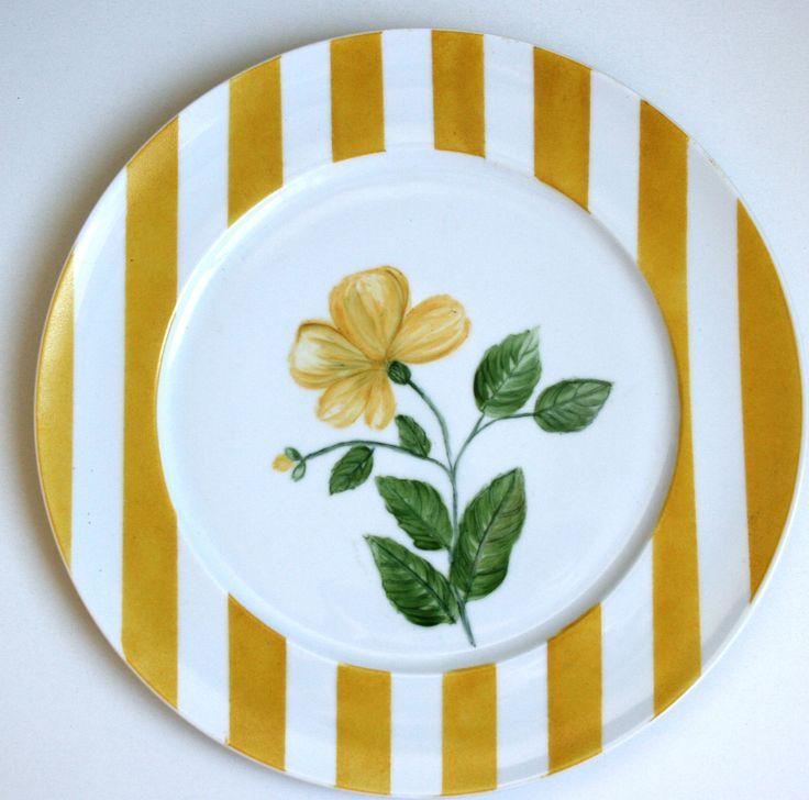 Aparelho Flores - prato amarelo