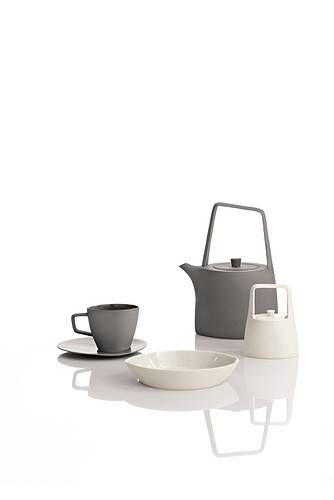 tea service, product design, kitchen, grey, white