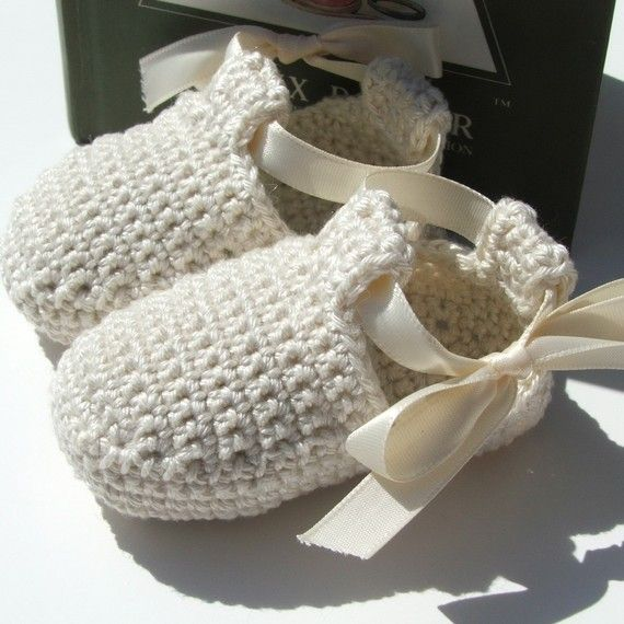 Baby Ribbon Shoes - Crochet Pattern