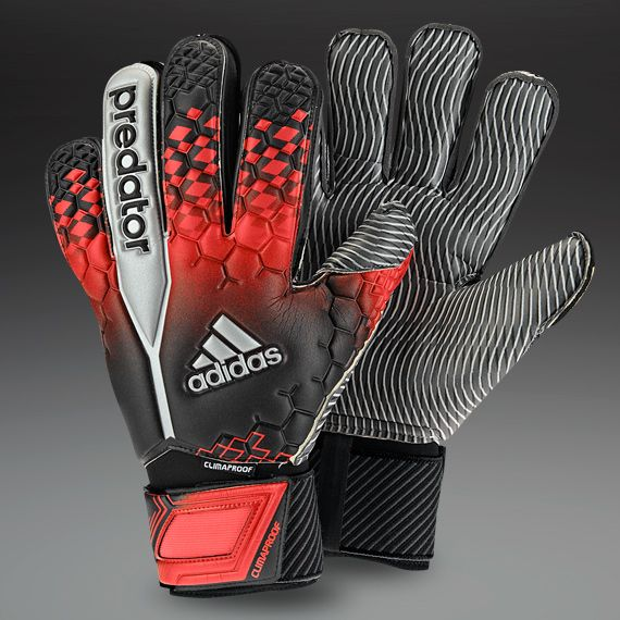 adidas Goalkeeper Gloves - adidas Predator Climaproof GK Gloves - Goalkeeping - Goalie Gloves - Black