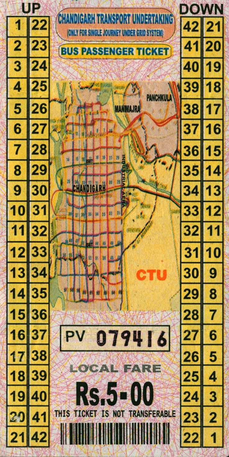 archiveofaffinities:    Bus Passenger Ticket, Chandigarh, India