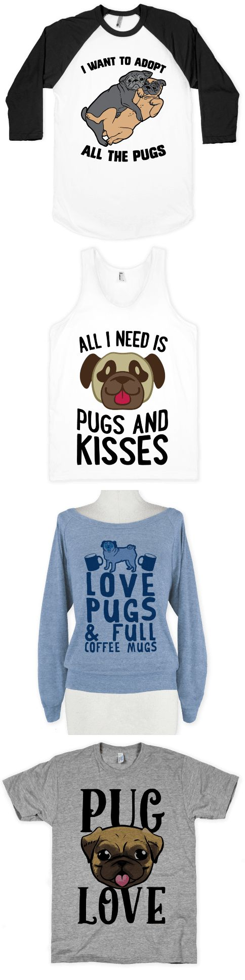 Pugs rhymes with hugs. Coincidence? We think not. Send your senses into a cuteness overload with this cuddly canine collection.