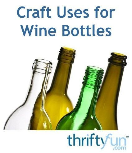 Recycled wine bottles can be used in crafts for the home and garden. This is a guide about crafts using wine bottles. #recycledwinebottles