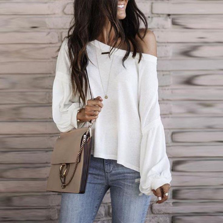 One Shoulder Blouse For Women Casual  Blouse For Work #blouseforwomen #blousefor... 1