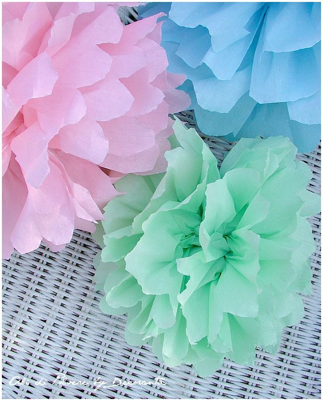 Ali di polvere: DIY: i pon pon di carta crespa